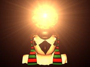 god rah sun 3d model