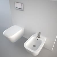 Pozzi Ginori Q3 wall hung toilet + bidet