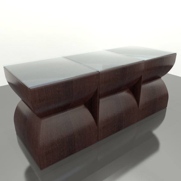 D Model Island Style Coffee Table - Island style coffee table