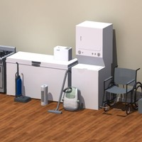 3d model recreational appliance items