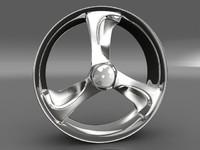 3d car tyre rim