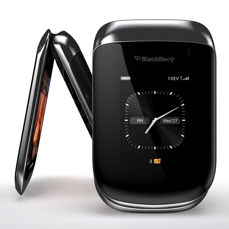 3d model of blackberry style 9670