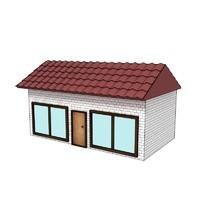 3d cartoon house toon