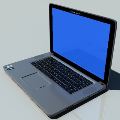 notebook laptop 3d c4d
