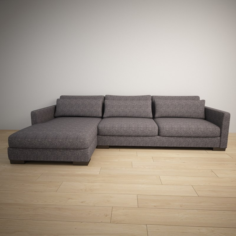 corner couch 3d max