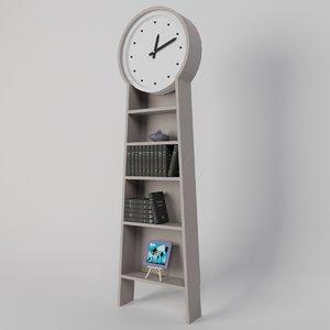 3d watch vase books model
