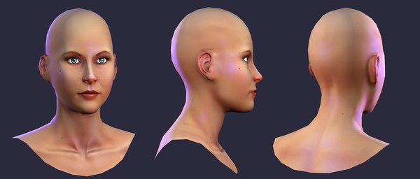 3d model naked human female