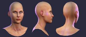3d model naked human female