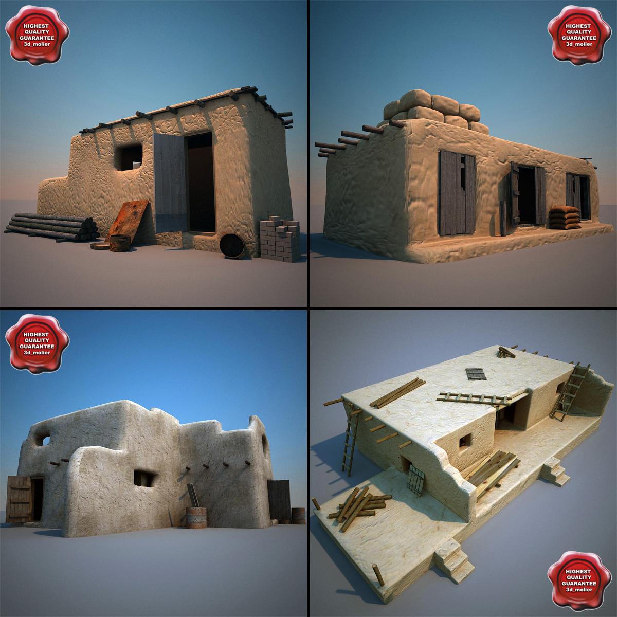 3d model of afghanistan houses v1