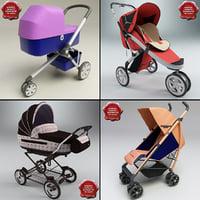 3d model baby prams