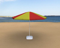 3d beach umbrella