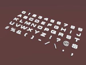 3d letters 3 font alphabet