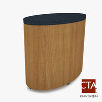 ottoman foot stool 3d model