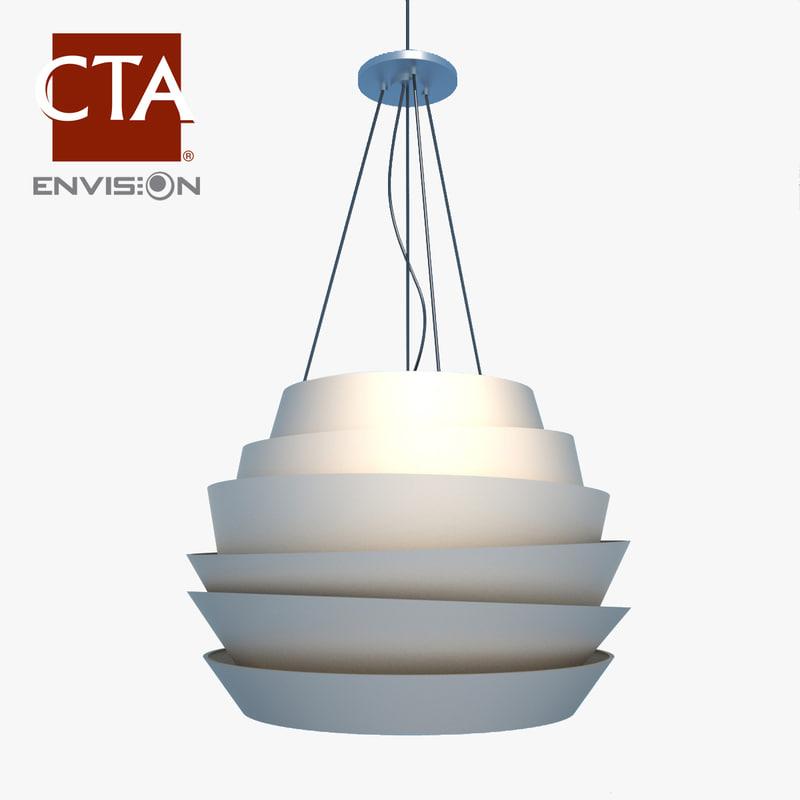 3d model modern ceiling light fixture