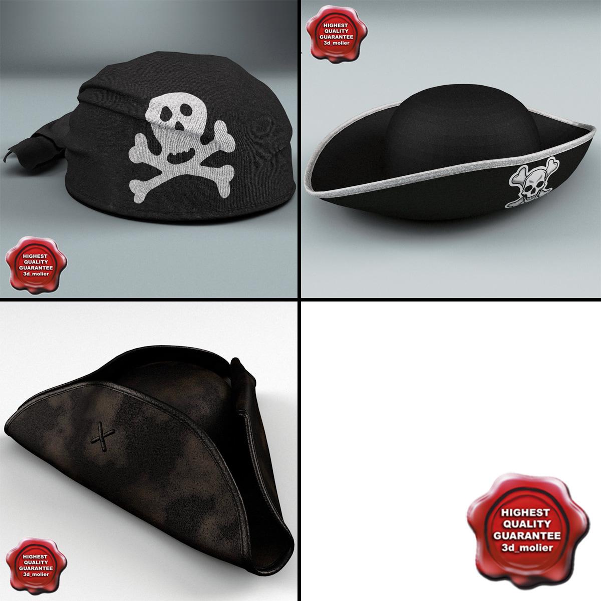 3d pirate hats model