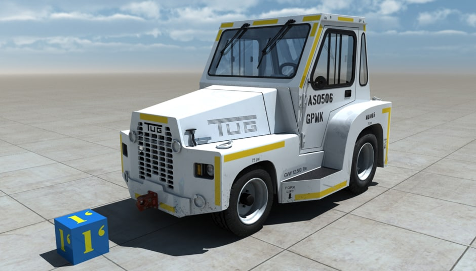 tow tractor tug obj