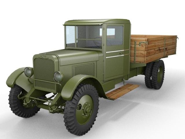 zis-5 truck 3d model