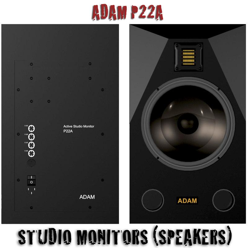 adam p22a active 3d model