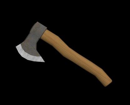 axe working wood 3d model
