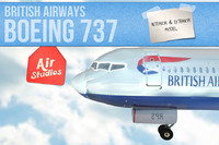 british airways boeing 3d model