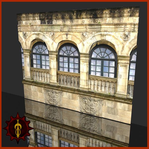 tileable wall 3d model