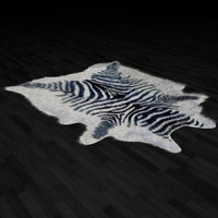 fur rug zebra skin 3d max