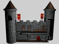 cutaway castle 3d model