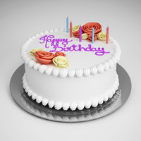 CGAxis Birthday Cake 10