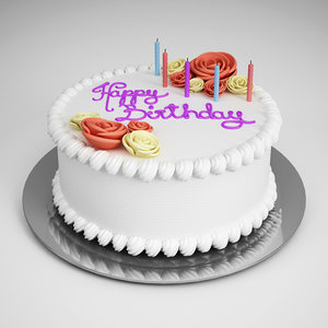3d model birthday cake 10