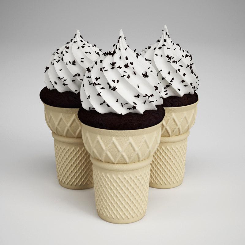 ice cream cones 14 obj