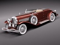 3d duesenberg sj roadster luxury