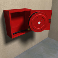 fire hose reel in cabinet