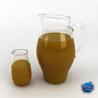 3d pitcher glass juice