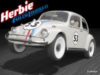 3d herbie volkswagen beetle