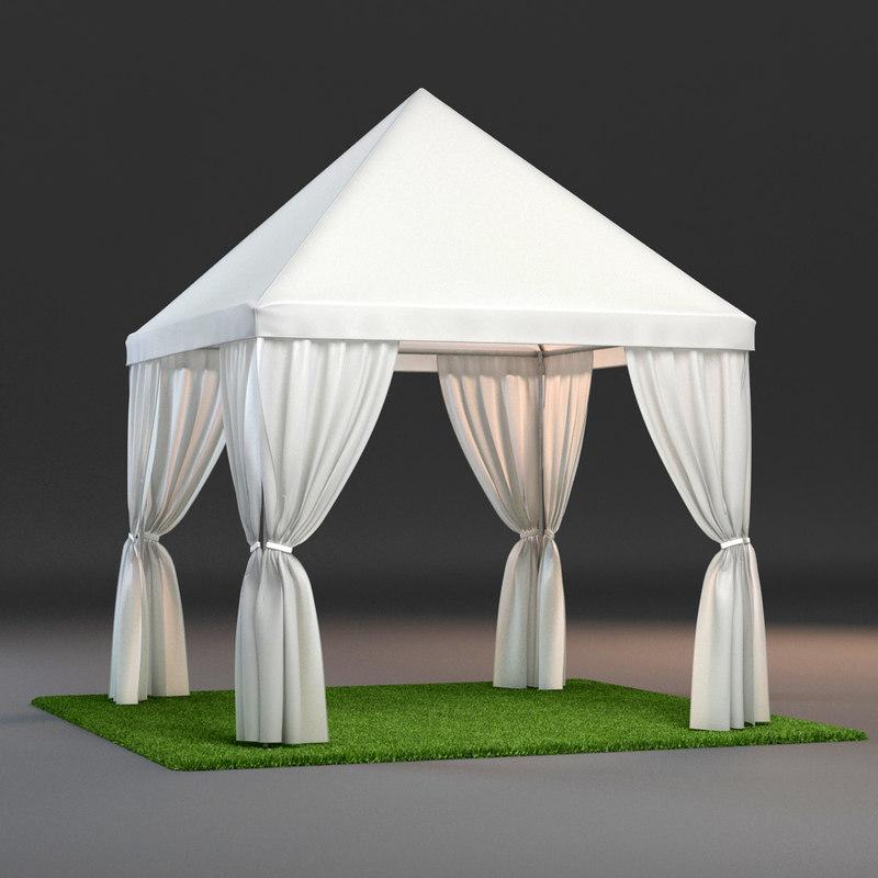 partytent tent 3d max