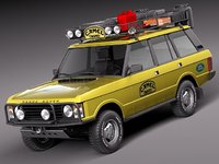 3d model range rover camel trophy