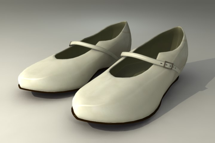 3d model mary shoes