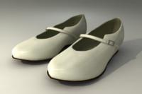 White Mary Jane Style Shoes