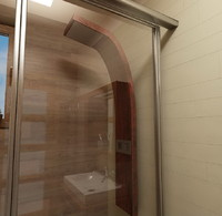 wood shower panel aqva 3d model