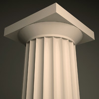 doric order column 3d model