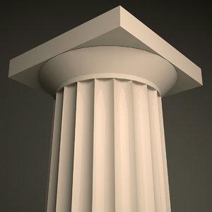 doric order column 3d model