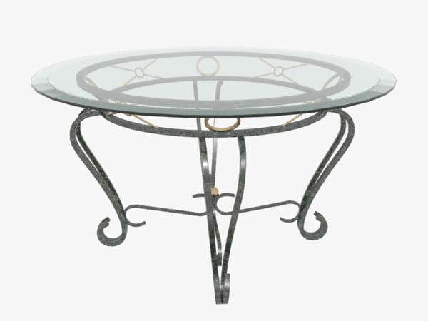 3d dining room table model