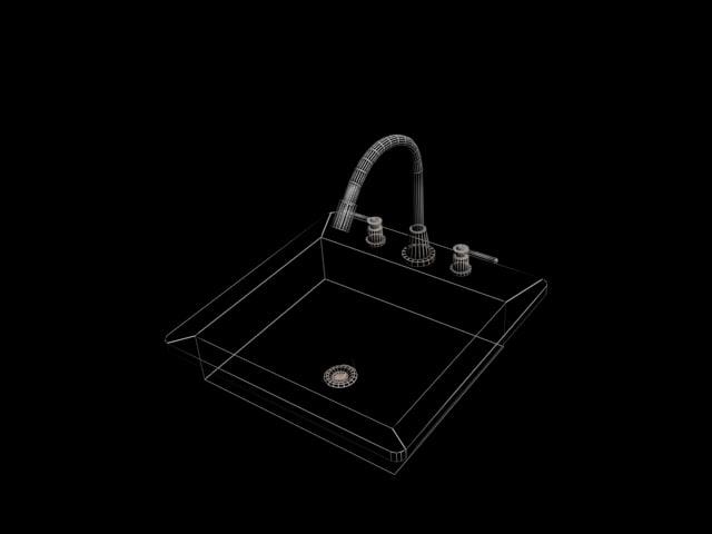 bathroom kitchen sink 3d max