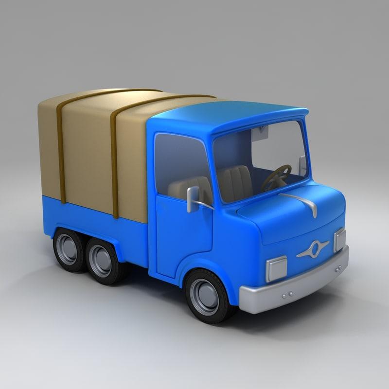 toy truck interiors 3d model