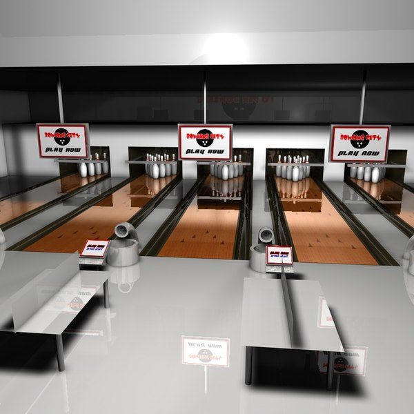 3d bowling alley model