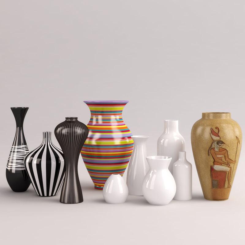 vases flowerpots 3d model