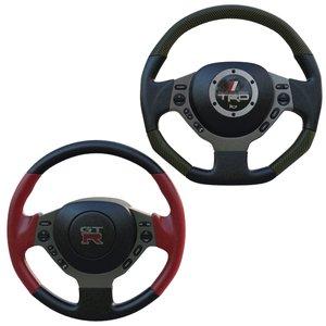 3d model of gtr steering wheel