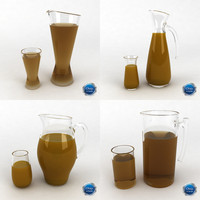 glass juice pitcher 3d max