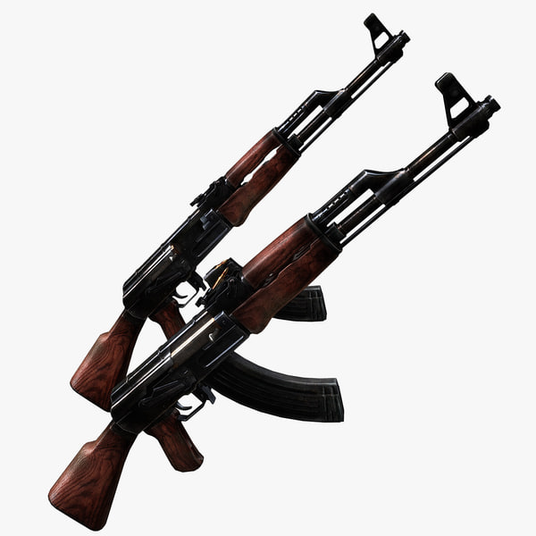 3ds max ak-47 rifle