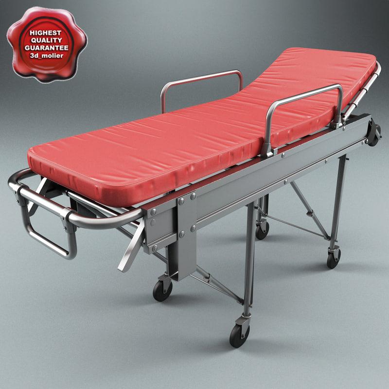 ambulance stretcher yxh 3b 3d model
